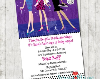 Bride Bachelorette Girls Night Out Party Invitation