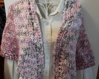 blended pink shawl and cowl set
