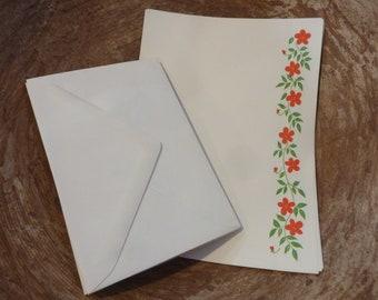 Vintage Floral Stationery Writing Paper Envelopes