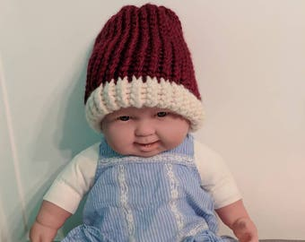 Cozy maroon toddler/child hat