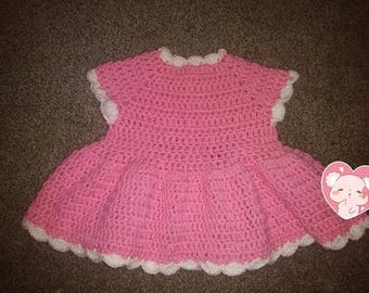 Crochet Newborn - 3 Month Dress
