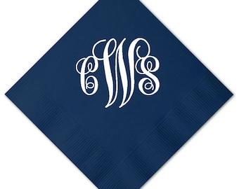 100 Personalized Napkins Personalized Napkins Wedding Napkins Custom Large Monogram