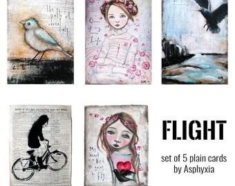Flight - pack of 5 plain gift cards