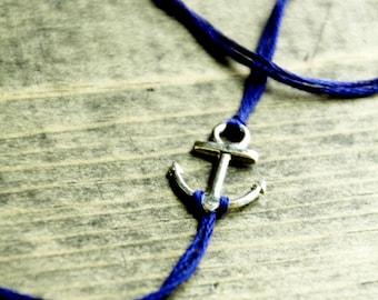 nautical anchor jewelry custom unisex jewelry valentine gift friendship bracelet embroidery thread wish bracelet wishlet stacking bracelets