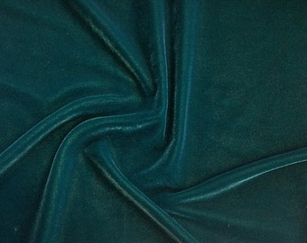 """Teal Micro Velvet Fabric Soft 45"""" inches By the Yard for Sewing Apparel Crafts"""