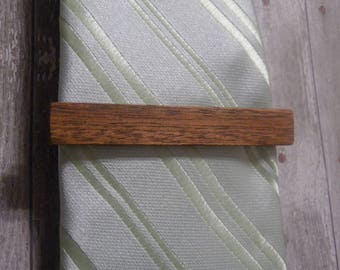 Personalized Wooden Tie Clip, Castom Engraved Tie Bar, Groomsman Gift, 5th Anniversary, Gift For Him,  Gift
