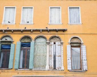 Venice, Italy, Stucco Buildings, European Buildings, Doors and Window Shutters, Italian Architecture