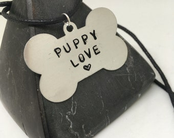 Puppy love, can be customised, Pet Play, fetish, puppy Necklace, puppy Gift, BDSM necklace, dog tag bdsm,  necklace, my puppy, owned, ddlg g