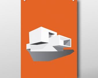 Élégante maison moderniste - impression d'art poster