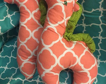 Adorable Stuffed Pink Giraffe plushie for baby