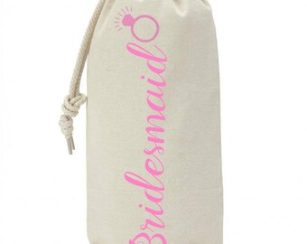 BRIDESMAID, Mother of the bride, maid of honor  Wine Bag Gift, Gift Proposa, Bridesmaid, wedding favors Gift Wine Bag