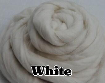 Heidifeathers Organic White Merino Wool - 100g / 3.5oz