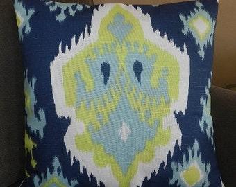 2 Sizes Available - Premier Prints Ikat Slub Canal Pillow Cover