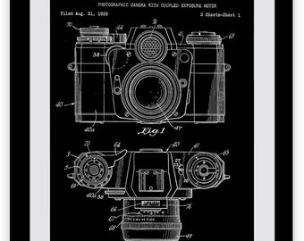 Analog Camera Patent Print, Photography, SLR, Film, 35mm, Platinum, Black and White, Darkroom, Kodak, Develop, Exposure, Color Prints