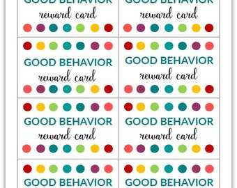 colorful reward punch card template elaboration certificate resume