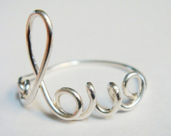 Heart Ring Silver Ring Valentines Gift Silver Love Ring