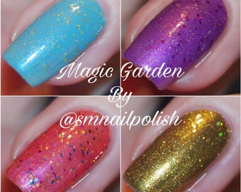 The Magic Garden Collection/SM Nail Polish/ Handmade Aussie Nail Polish/Cruelty Free/Crelly/Summery/Creme