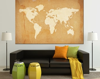 Custom world map etsy world map canvas world map poster world map print wall art custom world map large map gumiabroncs Image collections