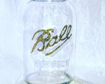 Sparkly Glam Accent Jar