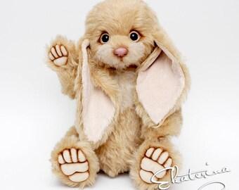 Big Teddy Bunny handmade toy gift 14 inches