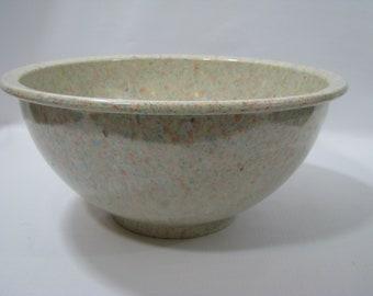 Vintage Texas Ware 118 Mixing Bowl Aqua Blue Pink Spatter Melamine Melmac