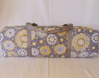 Silhouette Cameo 1 Carrying Case / Silhouette Cameo 2 Carrying Bag / Cricut Expression Carrying Case / Yellow and Gray flowers