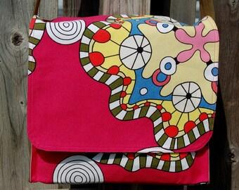 Pink Mandala Messenger Bag