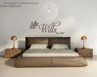 Bedroom wall decal vinyl wall decal for home custom colors