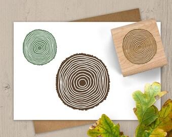 Tree Ring Stamp, Tree Ring Rubber Stamp, Nature Stamp, Plant Stamp, Outdoors Stamp, Camping Stamp, DIY Gift Wrap, Tree Stamp 107