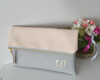 Colorblock Clutch, Monogram Clutch Purse, Evening Clutch Bag, Bridesmaid Gift, Wedding Accessory