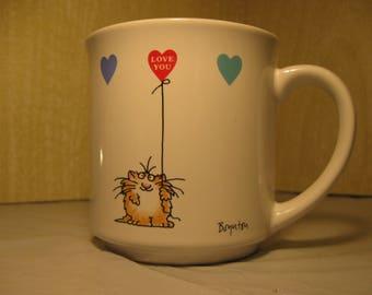 Vintage Boynton Coffee Mug    Hearts   Colorful Heart Balloons   Valentine Day Coffee Cup   Love You Mug    Cat Lover Coffee Mug