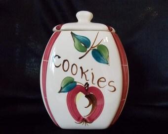 Purinton Pottery Open Apple Cookie Jar