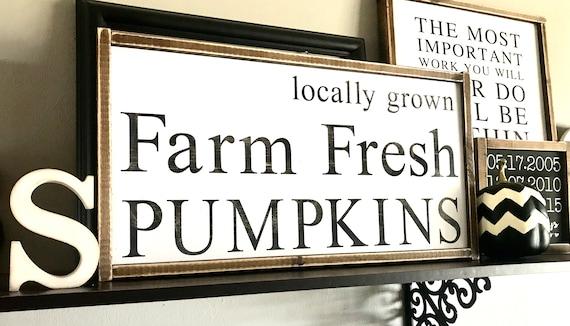 Farmhouse Sign | Farm Fresh Pumpkins | Farm Fresh Pumpkins Sign | Locally Grown Pumpkin Sign | Fall Sign | Pumpkin Sign | Fixer Upper