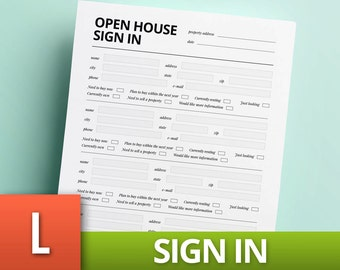 open house sign in sheet word