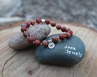 "Sacral Chakra ""Creativity"" Bracelet Red Jasper"