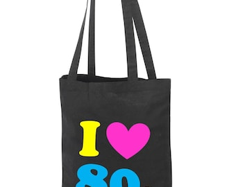 I Love The 80s Tote Bag