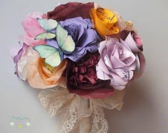Romantic wedding bouquet/ Bridal paper bouquet/ Automn wedding bouquet