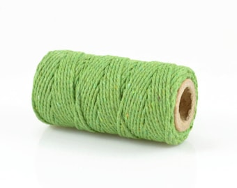 GREEN  BAKERS TWINE - Green Twisted Cotton String / Bakers Twine (20 meter spool)