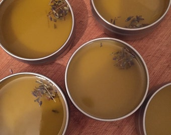 The Healer's Garden Ultimate Skin Healing Salve with Plantain, Chickweed. Comfrey and Lavender