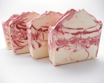 Cherry Almond Artisan Soap, Cold Process Soap, Vegan friendly-CP soap,  Handmade Soap,  Bar Soap,  Homemade Soap,  Nana J's Handmades