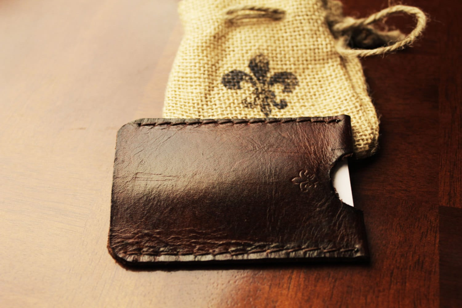 Leather Business Card Holder personalized business card