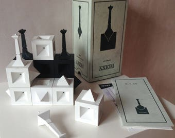 Axiom board game | collectors edition | original angular design | 3D abstract strategy game | chess alternative