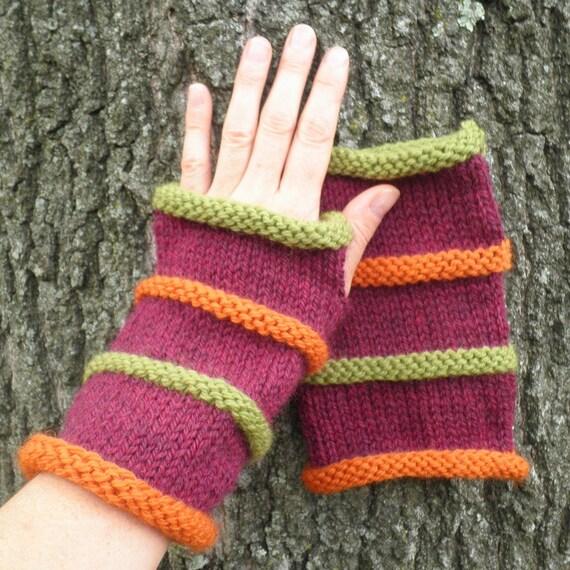 Knitting Pattern Oslo Mens Fingerless Gloves 3 Sizes 3 Lengths