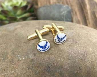 Air Force Cufflinks / U.S. Air Force Cuff Links AIRFORCE-CL / Military Cufflinks / Military Gift / Air Force / Armed Forces / US Cufflinks