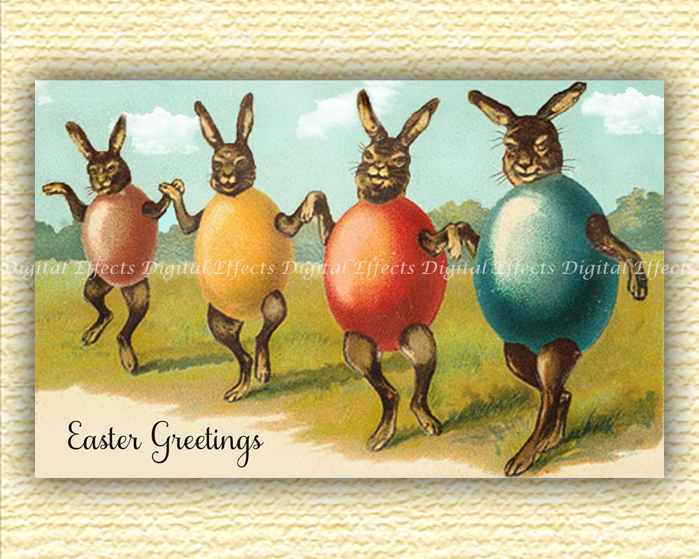 Vintage easter postcard digital easter card funny easter zoom kristyandbryce Choice Image