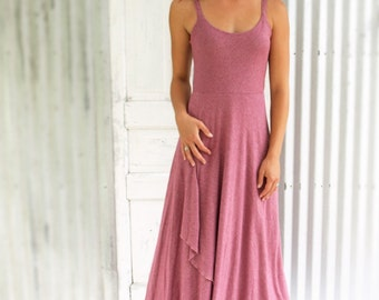 Hemp & Organic Cotton Jersey Full Length Spaghetti Strap Dress