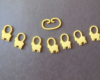 Baaa-a-a -- 10 Sets of 3D Printed Stitch Markers in One Color | Made-to-Order | Bulk Order | Gifts for Knitters