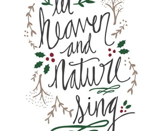 PRINTABLE - Heaven and Nature Sing - Joy to the World Printable