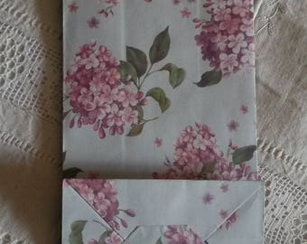 Set of 3 shabby chic gift bag / wrap paper / set of 3