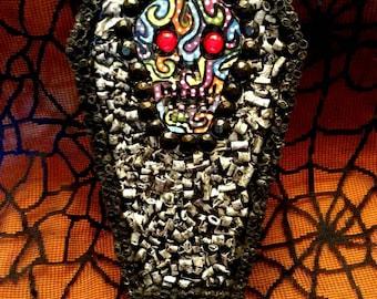 Day of the Dead Skull Coffin Box